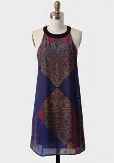 Tamil Nadu Paisley Shift Dress | Modern Vintage Occasion | Modern Vintage Dresses | Modern Vintage Clothing