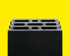 untitled (lightweight concrete block on yellow), 2015, ca. 114 x 142,5 cm © by-nc-nd david kühne, courtesy: rhein verlag