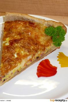 Quiche lorraine-slaný koláč Czech Recipes, Ethnic Recipes, Quiche Lorraine, Snack Recipes, Snacks, Culinary Arts, Lasagna, Food And Drink, Pizza