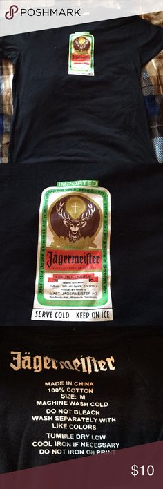 f9e8dc661 Shop Men s Black Green size M Tees - Short Sleeve at a discounted price at  Poshmark. Description  Got a jagermeister mens size medium tee.