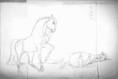 Spirit - James BaxterOriginal video: http://jbaxteranimator.tumblr.com/post/120757829148/pencil-test-for-a-shot-of-spirit-as-he-lays-down