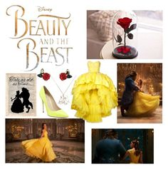 """""""Belle"""" by gabyqueeny ❤ liked on Polyvore featuring Emma Watson, Disney, Mikael D and Atelier Swarovski"""