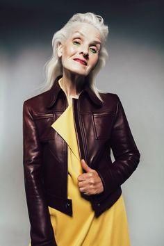 Жизнь прекрасна: Украинка Галина Герасимова в 70 лет стала моделью | Люди | Общество | АиФ Украина Red Leather, Leather Jacket, Miss Usa, Old Models, People, Jackets, Style, Age, Fashion