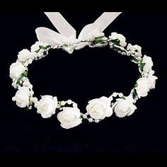Women's / Flower Girl's Foam Headpiece-Wedding / Special Occasion / Casual Flowers 2016 - $3.99