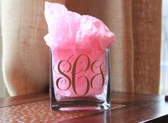 Crafty Texas Girls: DIY Monogram Candle Holder