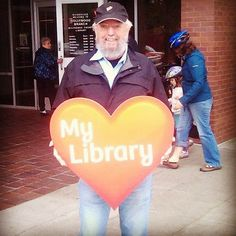 #librarylove on a busy day at the Hollywood branch #library