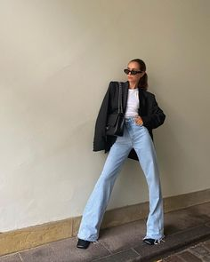 Adrette Outfits, Blazer Outfits, Cute Casual Outfits, Jean Outfits, Fashion Outfits, Insta Outfits, Fashion Mode, Aesthetic Fashion, Look Fashion