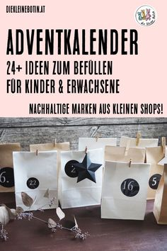 24 + Ideas for the Advent calendar: sustainable labels and fine ideas from small shops … - Christmas Crafts Diy Christmas 2019, Christmas Gifts, Christmas Decorations, Xmas, Christmas Crafts For Adults, Advent Calendar, Calendar Ideas, Are You Happy, Gift Wrapping