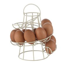 1 Piece High Quality White/Black Iron Creative Spiral Egg Racks Kitchen Organizer Egg Storage Container  H5134
