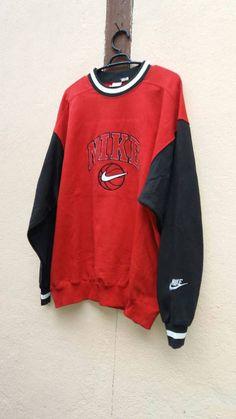 e9169b5ae9681 Vintage 90s nike sweatshirt · Nike SweatshirtsThriftingMotorcycle JacketRiders  ...