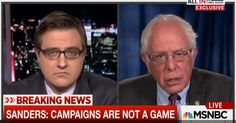 During an interview on Tuesday morning with MSNBC's Chris Hayes, Senator Bernie Sanders discussed many different topics, but the one issue he seemed most passionate about came at the end of the interview when Hayes asked Sanders what one question he wished that the media would ask more often. Sanders declined to offer one specific