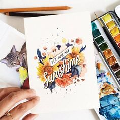 June digan is a manila-based graphic designer and artist. she has a very cool and fun pastime. she picked up the creative activity of watercolor painting as Watercolor Art Diy, Watercolor Lettering, Watercolor Paintings, Watercolor Illustration, Watercolours, Good Morning Friends, Creative Activities, Business Logo, Business Company