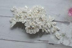 Headpiece  Kammgesteck 3D Spitze Braut Haarschmuck von Princess Mimi  auf DaWanda.com