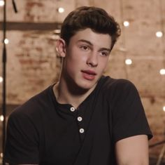 Imagine: shawn was in the middle of taking an interview when he spotted you walking around behind the interviewer. He lost his train of thought because of you.