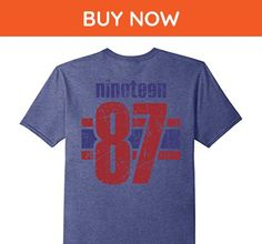 Mens 30th Birthday Vintage T-Shirt Gift 30 Years Old Retro 1987  XL Heather Blue - Birthday shirts (*Amazon Partner-Link)