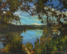 Mission Arts and Crafts Lake Summer - This Wondrous Day - Giclee Art PRINT of Original Painting matted 11x14 by Jan Schmuckal