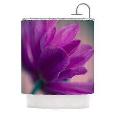 "Ann Barnes ""Standing Ovation"" Purple Flower Shower Curtain"
