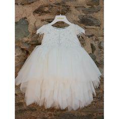 Βαπτιστικό φόρεμα Dolce Bambini Χειμωνιάτικο με διακόσμηση λουλουδιών και πέρλες, Βαπτιστικά ρούχα Χειμερινά κορίτσι, Χειμερινό φόρεμα βάπτισης τιμές-προσφορά, Επώνυμο βαπτιστικό φόρεμα Χειμερινό οικονομικό Girls Dresses, Flower Girl Dresses, Wedding Dresses, Fashion, Dresses Of Girls, Bride Dresses, Moda, Bridal Gowns, Fashion Styles