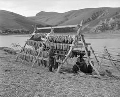 The photograph was taken in 1948 near the outlet of Wairewa, where eels are still caught and dried. New Zealand Nz History, Black History Facts, Abstract Sculpture, Sculpture Art, Bronze Sculpture, Old Pictures, Old Photos, Polynesian People, Maori Designs