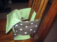 Crystal's Craft Spot: Fabric High Chair