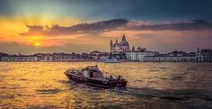 A Ride off into the Sunset. - A view of Venice from San Giorgio Maggiore.