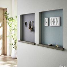 Pin by g** on アクセントクロス in 2019 Home Furniture, Furniture Design, House Entrance, Bathroom Hooks, Home Interior Design, Architecture Design, New Homes, Sweet Home, House Design