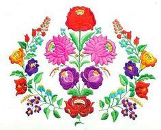 Kalocsai hímzés - jolka.qwqw.hu Hungarian Embroidery, Folk Embroidery, Learn Embroidery, Embroidery Patterns Free, Beaded Embroidery, Embroidery Designs, Chain Stitch Embroidery, Embroidery Stitches, Stitch Head