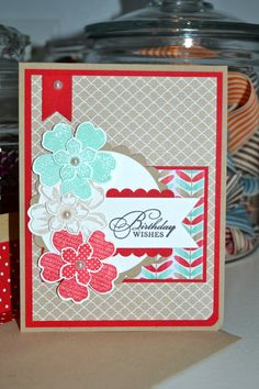 Stampin' Up!, Petite Petals, Flower Shop,Birthday Wishes Card by TheRoundedCorner on Etsy