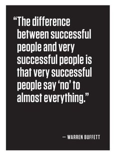 The Difference Between Successful People and Very Successful People.