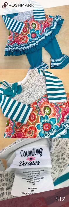 Counting Daisies 2 piece outfit size 3 months Counting Daisies 2 piece outfit size 3 months Matching Sets