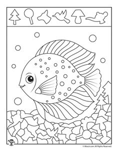 Ocean Angel Fish Hidden Printable Woo Jr Kids Printables For Pictures Coloring Pages Ocean Pictures, Print Pictures, Fish Coloring Page, Coloring Pages, Kindergarten Activities, Activities For Kids, Hidden Pictures Printables, Printable Pictures, Fisher