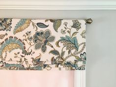 Faux Roman Shade Valance in Finders Keepers French Blue. Faux Roman Shades, Finders Keepers, French Blue, Ribbon Colors, Curtain Rods, Upholstery, Curtains, This Or That Questions, Fabric
