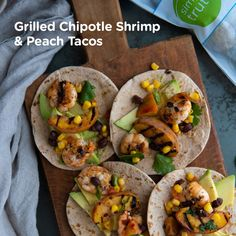 This easy summer recipe is just the dish to get you outside and fire up that grill! With fresh peaches, shrimp, avocados and more is the perfect combo of flavors in every bite. @feedingfrasers loves to make these Grilled Shrimp & Peach Tacos because they come together in only 40 minutes and with just a handful of ingredients. 🍤 🍑 🌮  Summer Grilling Recipes, Easy Summer Meals, Summer Recipes, New Recipes, Favorite Recipes, Healthy Recipes, Peach Salsa Recipes, Grilled Peaches, Grilled Shrimp