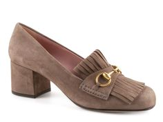 Gucci grey field kid suede leather pumps heels shoes - Italian Boutique €364
