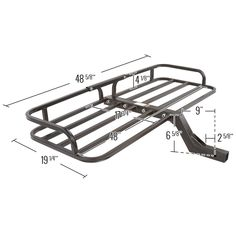 Increase hauling capabilities on an ATV with this steel cargo carrier. The ATV cargo carrier has a 150 lb capacity and room to carry gear, coolers, tools and more. The hitch cargo rack also works on SUVs, trucks, UTVs and tractors! Truck Roof Rack, Truck Storage, Atv Racks, Best Bike Rack, Hitch Rack, Jeep Wrangler Accessories, Veteran Car, Jeep Mods, 150 Lbs