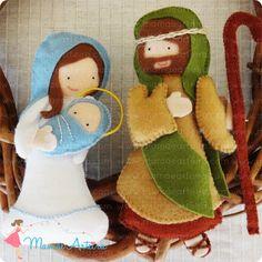 Sagrada Família =)  #mamaearteira #feltro #felt #nativity