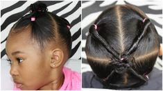 Hiiii Friends 💖💖💖 In this video I show you how to do a really simple 4 ponytails with twists hairstyle you can do in your little one's hair. Black Toddler Hairstyles, Mixed Kids Hairstyles, Little Girl Haircuts, Baby Boy Hairstyles, Natural Hairstyles For Kids, Twist Hairstyles, Natural Hair Styles, Black Hairstyles, Hairstyle For Girls Video