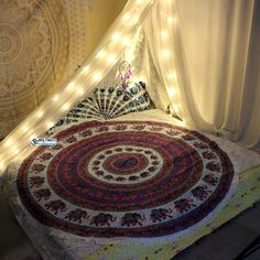 Roundie Indian Mandala Round Beach Towel Picnic Sheets Indian Mandala Roundies, Beach Throw, Round Table cover, Wall Hanging, Bedspread,Yoga Rug and mat, Hippie Roundie, Mandala Rug  Gorgeous and beautiful beach blankets are a boho babe essential and favourite. Handmade from 100% Cotton with ethnic mandala design. They can be used for the beach, as a wall hanging or on a bed or anywhere you like.  Beach Towel, Hippie Mandala Rug, Indian Wall Tapestry, Round Bohemian Tapestries and Bedspread