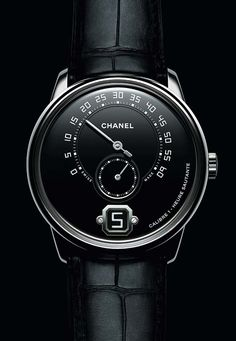 Introducing The Monsieur de Chanel Limited Edition In Platinum With Black Enamel Dial Sport Watches, Cool Watches, Watches For Men, Fancy Watches, Luxury Watches, Rolex Watches, Analog Watches, Bling Bling, Baselworld 2017