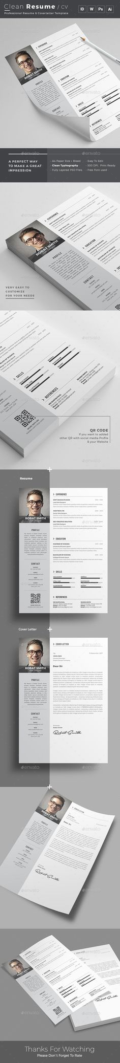Clean Resume Cv Template Free Psd  Cv Template Resume Cv And Psd