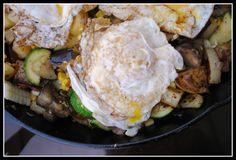 Grilled Corn Summer Breakfast Hash   via Nicole Morrissey, MS, RD, LD