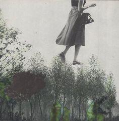 """""""wipfelstürmerin"""". handmade collage, analog collage by papiertänzerin."""
