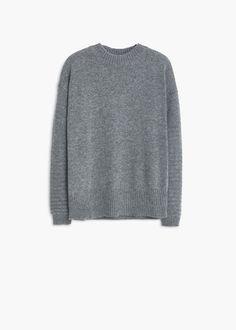 Jersey lana canalé - Mujer | MANGO