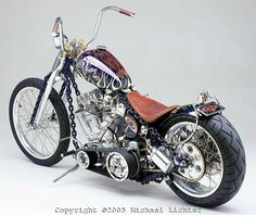 'Chain of Mystery' Harley Davidson Shovelhead / Panhead, chain-link frame by Indian Larry