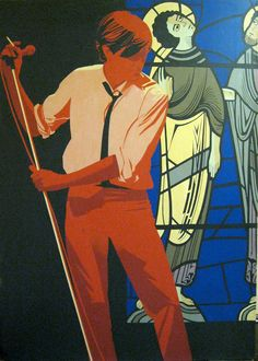 bryan ferry roxy music painting by waltyablonsky on Etsy