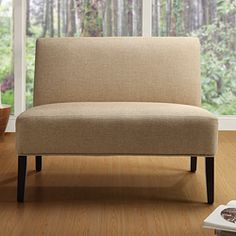 @Overstock - Simple elegance at its best, the Easton Collection Espresso loveseat is a welcoming addition to any living room. This high quality polyester upholstering adds the perfect finishing touch.  http://www.overstock.com/Home-Garden/Easton-Collection-Beige-Loveseat/6002752/product.html?CID=214117 $195.99