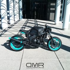The teal is real! DYC exclusive color Intense Teal plasti dip on the FZR600R. #DipMyRide #DMR #DipYourCar #DYC #plastidip #intenseteal #Fizzer6 #Yamaha #fzr600 #dipset #pastelmafia #SBROC #SoCal #OC #Stanton #sportbikes #streetbikelife #streetfighter #barenaked by dipmyridela