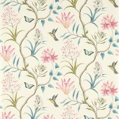 Sanderson Clementine Wallpaper - 213386 at Amara Bennett