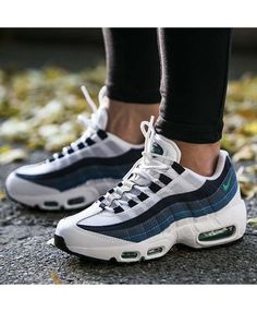 0f799df3a8 Nike air max 95 white dark blue grey trainers has a good look and it make