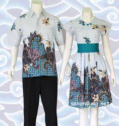 Batik Sarimbit Couple Pasangan Modern yang ada di koleksi toko batik online senandung